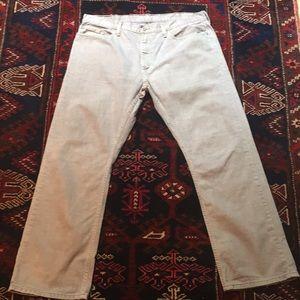 Men's Levi's 514 38 x 30 Light Gray Jeans